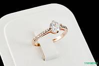 """Кольцо """"Дицентра"""" с кристаллами Stellux™ (Swarovski), покрытие золото"""