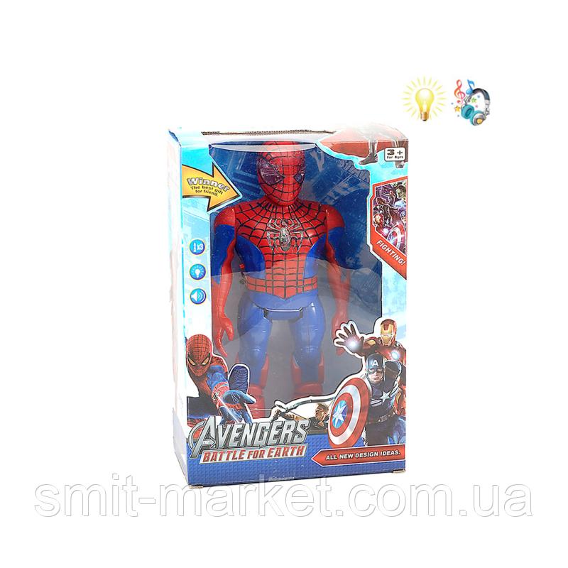 Marvel Герои, Мстители. Фигурка Робот Человек Паук  9916A, +звук, +свет. Игрушки Супергерои Марвел Marvel