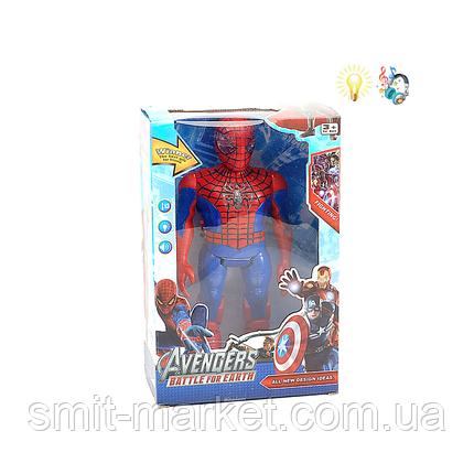 Marvel Герои, Мстители. Фигурка Робот Человек Паук  9916A, +звук, +свет. Игрушки Супергерои Марвел Marvel, фото 2