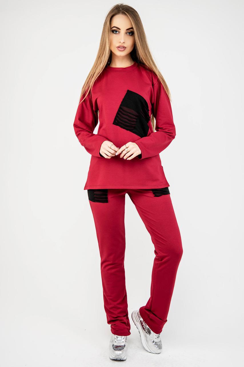 Женский удобный спортивный костюм Синди / цвет бордо / размер 44-54