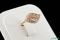 """Кольцо """"Годеция"""" с кристаллами Stellux™ (Swarovski), покрытие золото"""