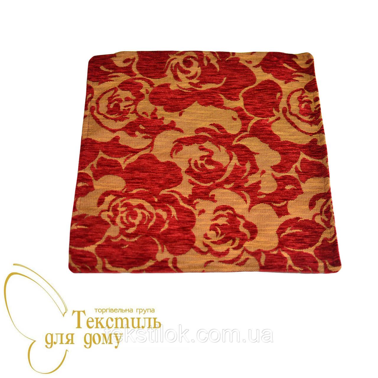 Наволочка декоративная рельефные цветы BURGAZ, красный