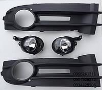 Противотуманные фары+вставки VW Caddy 2003-2010