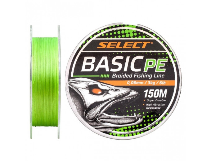 Шнур Select Basic PE 150m (салат.) 0.16mm 18lb/8.3kg