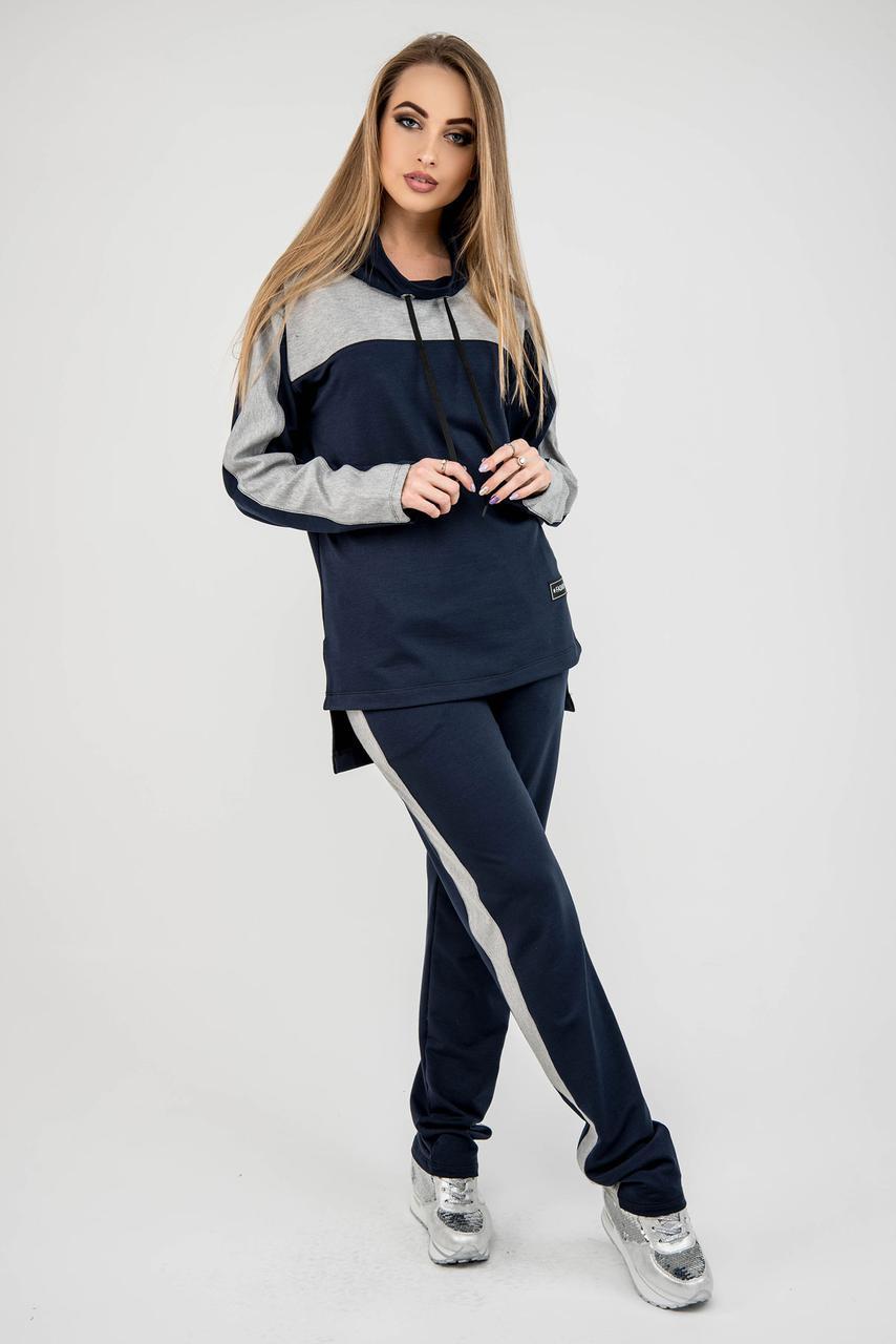 Женский комфортный спортивный костюм Джейла / цвет синий / размер 44-54