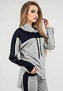 Женский комфортный спортивный костюм Джейла / цвет серый / размер 44-54, фото 3
