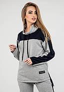 Женский комфортный спортивный костюм Джейла / цвет серый / размер 44-54, фото 5