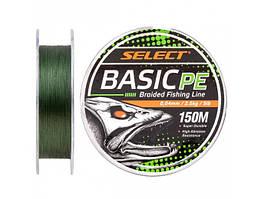 Шнур Select Basic PE 150m (темн-зел.) 0.22mm 30lb/13.6kg