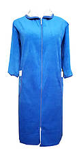 Велюровый женский халат на молнии 48р, фото 3