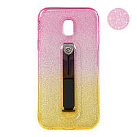 Remax Glitter Hold Series for Samsung J330 J3-2017 Yellow/Pink