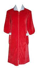 Велюровый женский халат на молнии 52р , фото 2