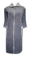 Велюровый женский халат на молнии 54р, фото 3