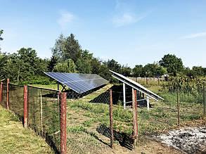 Два фотоэлектрических поля наземной установки.