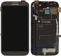 Дисплей (экраны) для телефона Samsung Galaxy Note 2 N7100 + Touchscreen with frame Original Grey