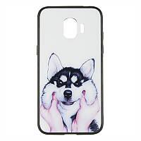 IPaky Print Series for Samsung J330 (J3-2017) Cheerful Dog (C08)