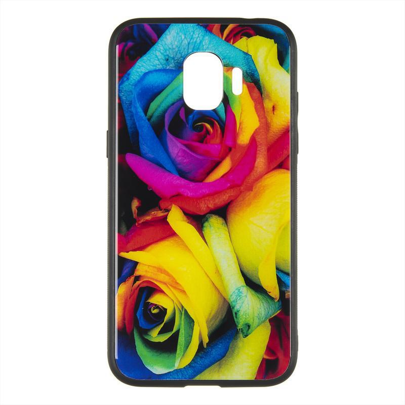 IPaky Print Series for Samsung A730 (A8 Plus-2018) Mystic Roses (115)