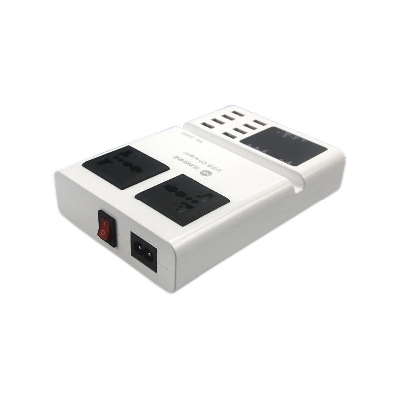 USB Adapter Sunshine SS-306D 8USB + LCD + 2 розетки