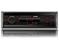 Автомагнитола Fantom FP-380 USB/SD 1 Din Black/Red