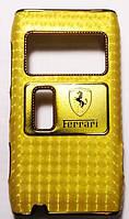 Чехол-Накладка для Nokia N8-00, Ferrari, Золотистый /панель/корпус/накладка /нокиа