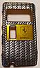Чехол-Накладка для Nokia N8-00, Ferrari, Серебристый карбон/панель/корпус/накладка /нокиа