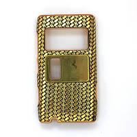 Чехол-Накладка для Nokia N8-00, Ferrari, Золотистый  карбон/панель/корпус/накладка /нокиа