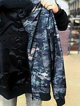 Мужская зеленая демисезонная куртка-бомбер, фото 2