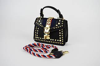 Флеп сумка с украшениями 6055, фото 3