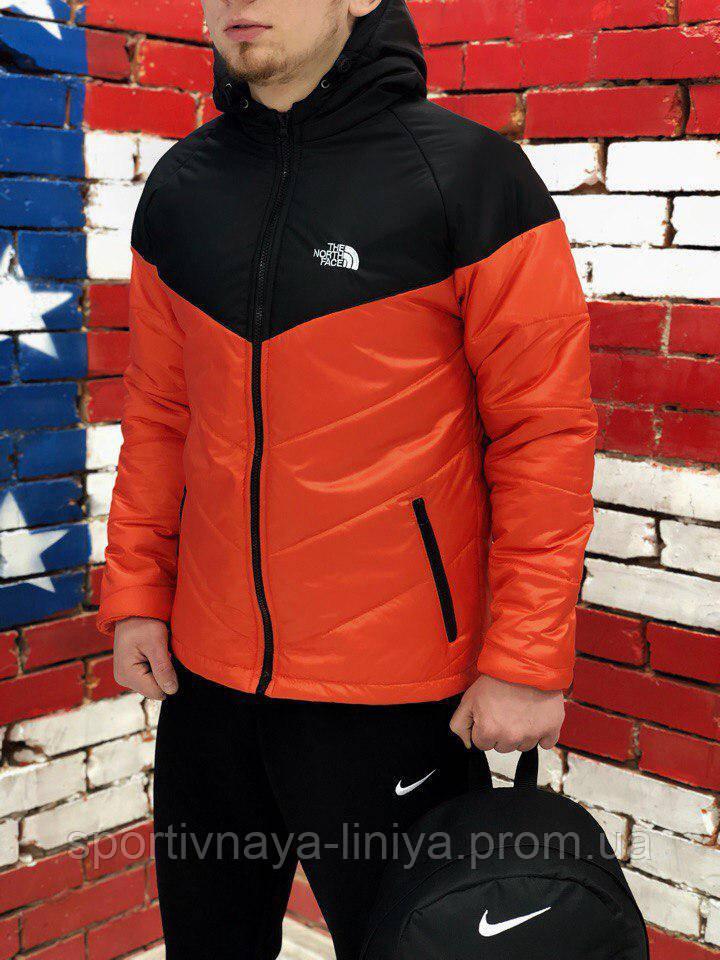 Мужская оранжевая демисезонная куртка The North Face (реплика)