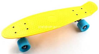 Penny Board Желтый цвет Голубые колеса Гарантия качества Быстрая доставка