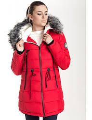 Зимняя куртка 17-13 Красный+Черный