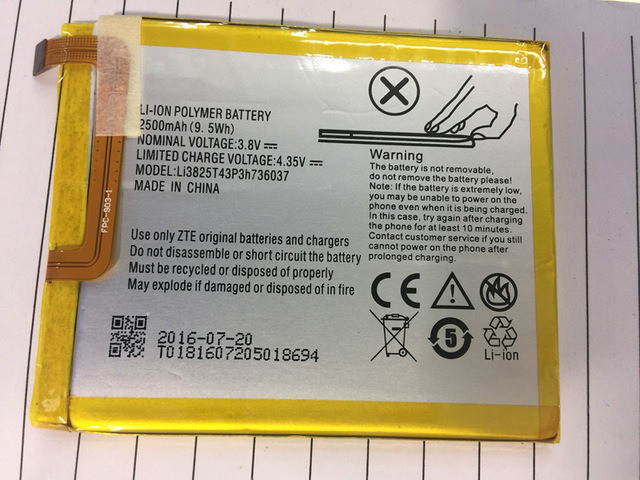 Акумуляторна батарея Li3825T43P3h736037  для мобільного телефону ZTE Blade V7 Lite