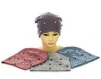 Набор из трикотажных шапок с жемчужинами