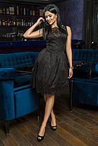 """Нарядное гипюровое платье приталенного кроя """"Helena"""" с пышной юбкой (2 цвета), фото 3"""
