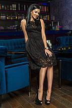 """Нарядное гипюровое платье приталенного кроя """"Helena"""" с пышной юбкой (2 цвета), фото 2"""