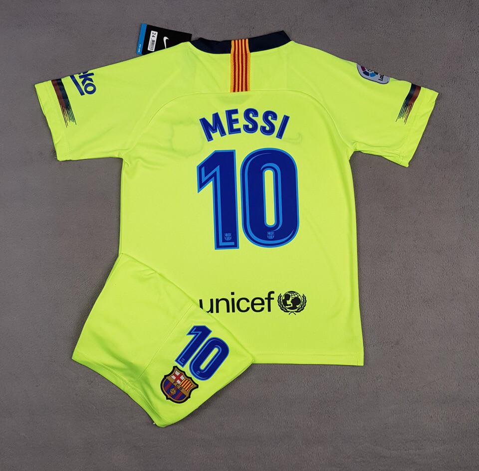 Детская футбольная форма Барселона MESSI, выездная, сезон 2018/19