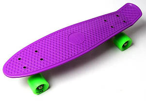 Penny Board Фиолетовый цвет Салатовые колеса Гарантия качества Быстрая доставка