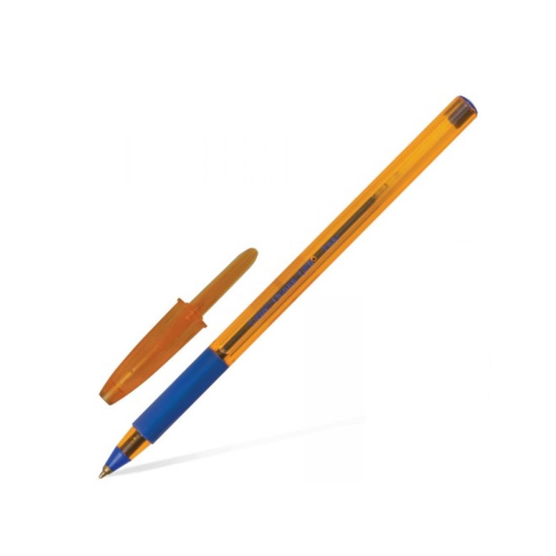 "Ручка кулькова BIG ""Orange grip""синя"