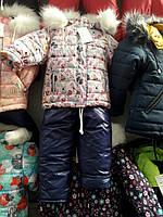 Детский зимний комбинезон для девочки Код дод1