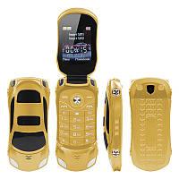 Мобильный телефон машинка Newmind F15. Золотой, фото 1