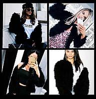 Модная шубка, шуба, полушубок с натуральных перьев страуса s, m, l, xl, xxl