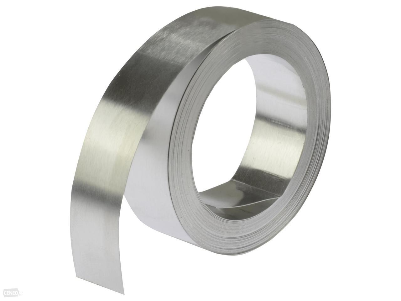 Стрічка з нержавіючої сталі DYMO безклейова 12мм х 6,40 м S0720170 для принтерів Dymo M1011