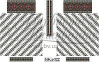 """Заготовка для вишивки нитками або бісером """"Сорочка жіноча"""" БЖд-122 Барвиста вишиванка"""