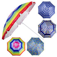 Зонт пляжный d2.2мсеребро MH-1096 (12шт)