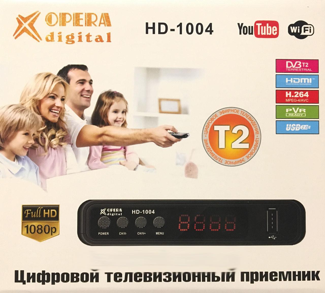 Тюнер Т2 OPERA DIGITAL HD-1004 DVB-T2 Пульт WiFi YouTube FullHD 32-58 канала