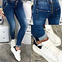 """1801-573 Angelina Mara джинсы женские """"змейка"""" демисезонные (25-30, 6 ед.), фото 1"""