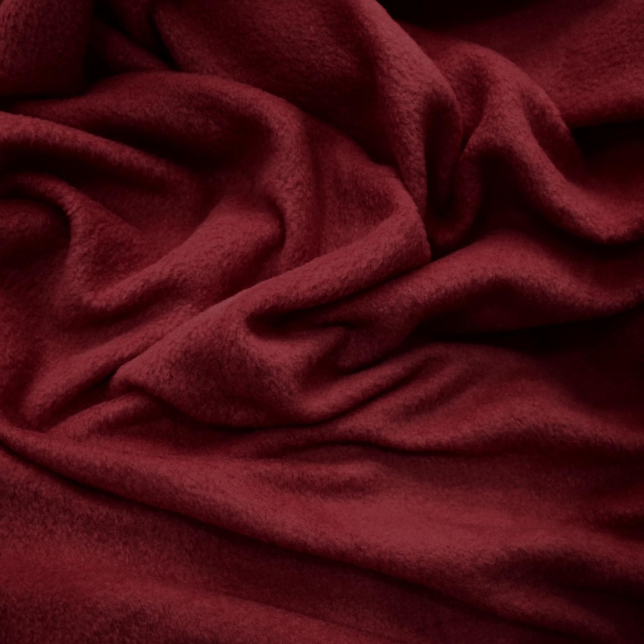 Ткань флис бордовый