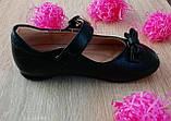 Туфли для девочек Черный М41-1 Apawwa Румыния, фото 3
