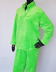 Женская махровая пижама без застежки