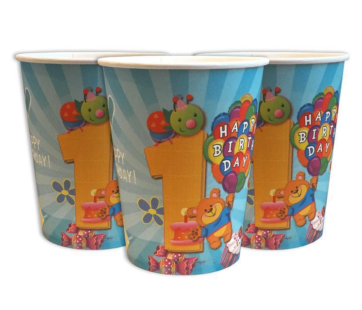 """Дитячі святкові стаканчики """"Перший рік """"10 штук"""