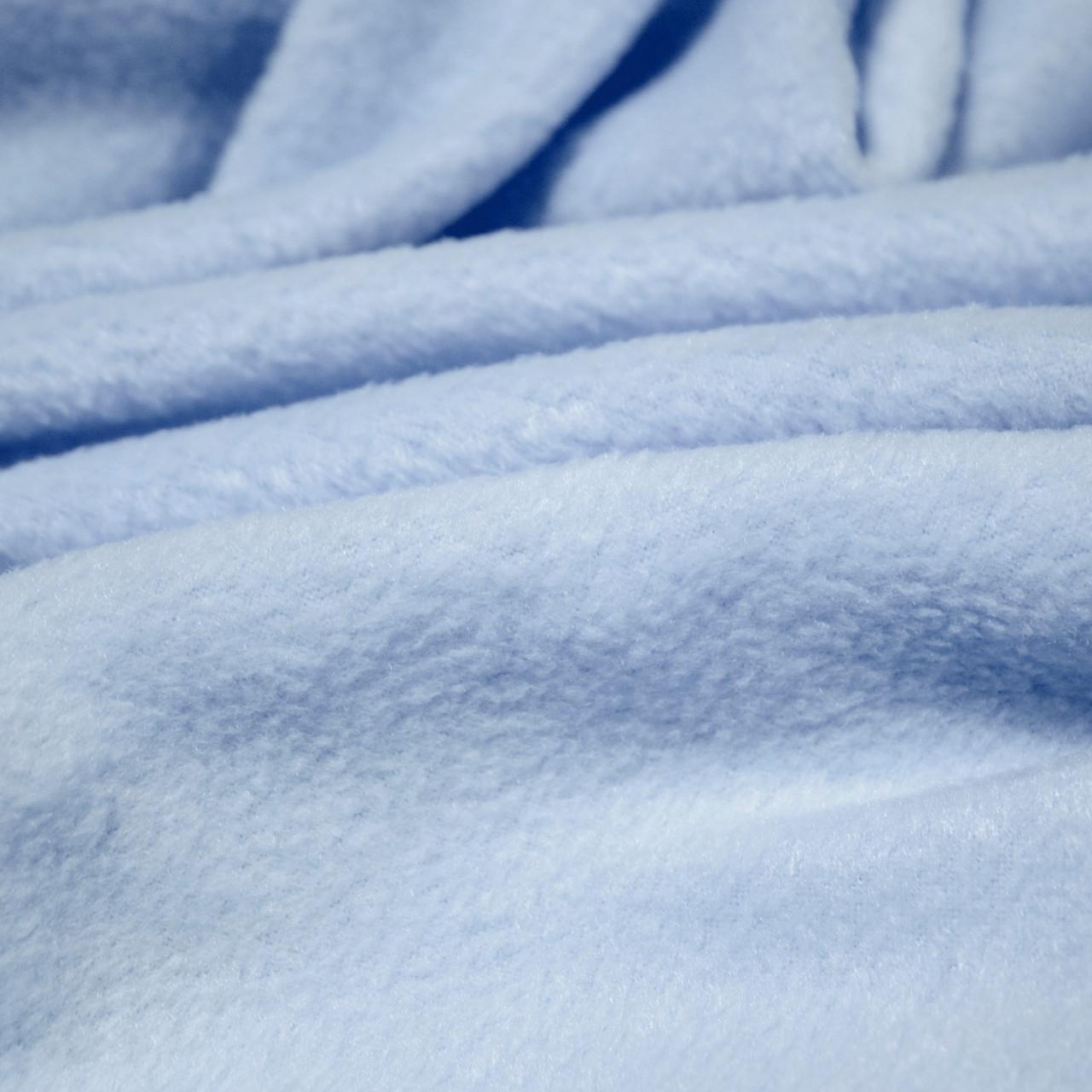Ткань флис голубой